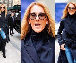 Celine Dion w płaszczu z trenem zadaje szyku na nowojorskiej ulicy. Piękna? (ZDJĘCIA)