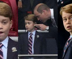 Finał Euro 2020: Siedmioletni książę George w garniturze ekscytuje się golem Anglików (ZDJĘCIA)