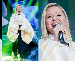 Opole 2021. Anna Karwan bryluje na scenie w niemal IDENTYCZNEJ STYLIZACJI jak wcześniej Celine Dion (ZDJĘCIA)