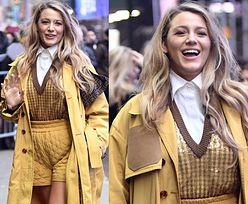 Promienna Blake Lively podbija Nowy Jork w obcisłych żółtych szortach (FOTO)