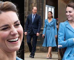 Księżna Kate w błękitnej sukience ratuje wizerunek monarchii podczas wizyty w Szkocji (ZDJĘCIA)