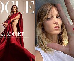 """Anja Rubik pozuje nago na MOCNEJ okładce """"Vogue Polska"""". """"Władza ZNIEWALA KOBIETY zakazem aborcji"""""""