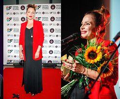 Anna Dereszowska eksponuje ciążowy brzuszek w czarnej sukni na festiwalu filmowym (ZDJĘCIA)