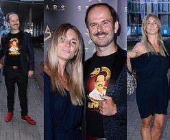 Roześmiany Sławomir i wystrojona Kajra wdzięczą się do zdjęć na imprezie marki odzieżowej (ZDJĘCIA)