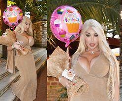 Długowłosa Jessica Alves świętuje urodziny w Turcji, przechadzając się z różowym balonikiem (ZDJĘCIA)