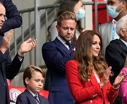 EURO 2020. Książę William i księżna Kate z synem, księciem Georgem, kibicują na Wembley w meczu Anglii z Niemcami (ZDJĘCIA)