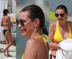 Agnieszka Dygant W BIKINI pląsa po gorącym piasku na plaży w Juracie (ZDJĘCIA)