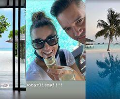 Beata Tadla sączy szampana z mężem Michałem, celebrując miesiąc miodowy na Malediwach (ZDJĘCIA)