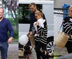 Kasia Tusk z córką na rękach spieszy się do domu, aby zdążyć przed odwiedzinami Donalda Tuska (ZDJĘCIA)