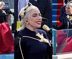 Lady Gaga w kolorach amerykańskiej flagi śpiewa hymn na zaprzysiężeniu Joe Bidena (ZDJĘCIA)