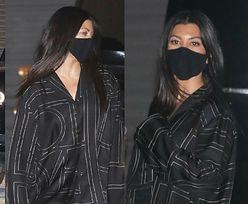 Wyluzowana Kourtney Kardashian idzie do luksusowej restauracji ubrana W PIŻAMĘ (ZDJĘCIA)