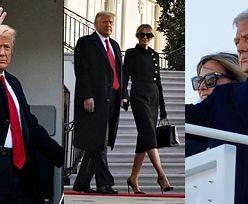 Donald i Melania Trumpowie opuszczają Biały Dom (ZDJĘCIA)