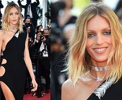 """Dawno niewidziana Anja Rubik w eleganckiej kreacji Saint Laurent """"gra nogą"""" na festiwalu w Cannes (ZDJĘCIA)"""