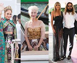 Gwiazdy na pokazie Dolce & Gabbana: Jennifer Lopez, Helen Mirren, Heidi Klum z debiutującą na wybiegu córką... (ZDJĘCIA)