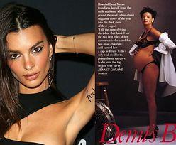 """Ciężarna Emily Ratajkowski przebrała się za... Demi Moore ze słynnej sesji dla """"Vanity Fair""""! (FOTO)"""