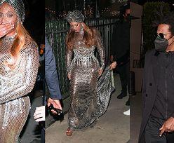 Beyonce w turbanie z woalką pędzi z Jayem-Z na after party po gali Grammy (ZDJĘCIA)