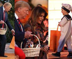 """Halloween 2019 u Trumpów: """"Jesieniarska"""" Melania i dumny Donald rozdają cukierki dzieciom (ZDJĘCIA)"""