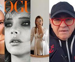 """ZDJĘCIA TYGODNIA: Kasia Tusk pokazała ciążowy brzuszek, Kulig na okładce """"Vogue'a"""" i apelująca o pojednanie Doda"""