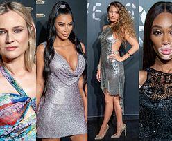 Tłum gwiazd na pokazie Versace: Diane Kruger, Kim Kardashian, Blake Lively, Winnie Harlow... (ZDJĘCIA)