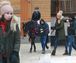 Kaczyńska i Dubieniecki kibicują córce na zawodach jeździeckich (ZDJĘCIA)