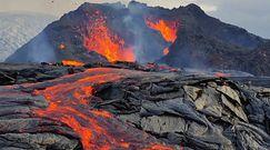 Wycieczki do wybuchającego wulkanu. Niezwykłe nagrania erupcji na Islandii