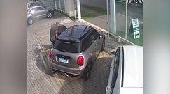 Kradzież na jazdę próbną. Wszystko nagrała kamera monitoringu