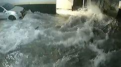 Basen zapada się do garażu. Przerażający moment wypadku w Brazylii