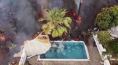 Erupcja wulkanu na wyspie La Palma. Żywioł pochłonął basen