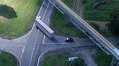Piraci drogowi w obiektywie drona policyjnego. Nagranie z akcji z Opolskiego