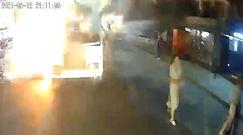 Eksplozja autobusu. Przerażające nagrania z Rosji