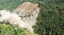 Potężne osuwisko zniszczyło część lasu. Szokujące nagranie z Chin