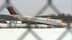 Samolot wypadł z pasa. Wypadek na lotnisku w USA