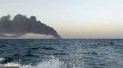 Szokujący widok. Największy okręt marynarki wojennej Iranu tonie po pożarze
