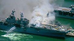 Pożar na okręcie USS Bonhomme Richard. Powodem mogła być eksplozja