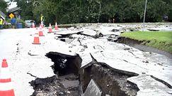 Droga w USA zdewastowana po burzy. Fatalne skutki huraganu Ida