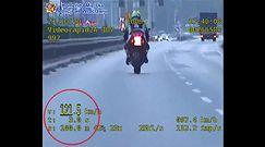 Motocyklista przekroczył prędkość o 71 km/h i uciekał przed policją