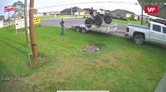 Próbowali załadować czterokołowiec na przyczepkę. Kuriozalne nagranie z Luizjany