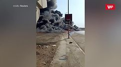 Pożar rurociągu w Egipcie. Świadek nagrał cały sznur płonących aut