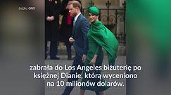 Meghan zabrała biżuterię po księżnej Dianie do Los Angeles
