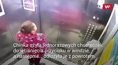 Koronawirus w Chinach. Kobieta pluła na przyciski w windzie