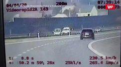 Pirat na autostradzie. Wykorzystał pustą drogę