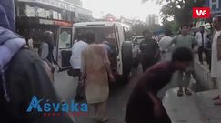 Atak w Kabulu. Nagranie spod szpitala