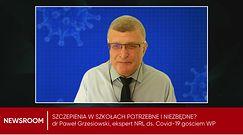 Kontrowersje wokół szczepień w szkołach. Dr Grzesiowski o słowach małopolskiej kurator: Zupełne nieporozumienie