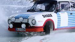 120 lat Škoda Motorsport - przejazd po lodowym torze w Škodzie 130 RS