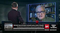 """Media bez wyboru. Cimoszewicz pytany o pieniądze dla NFZ. """"To szyderstwo"""""""
