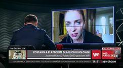 """Joanna Mucha dołącza do Polski 2050. """"Interesuje nas, jak ma wyglądać kraj po PiS-ie"""""""