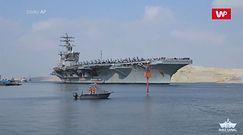 Lotniskowiec USS Dwight D. Eisenhower przepłynął przez Kanał Sueski