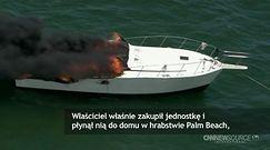 USA: jacht stanął w ogniu i zatonął