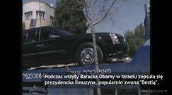 Limuzyna Baracka Obamy utnęła w Izraelu