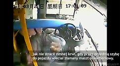 Dramatyczne nagranie z autobusu